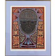 "Dorr Bothwell Limited Edition 1968 Serigraph ""African Oba"""