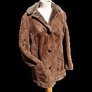 Gorgeous 60's sheepskin coat, vintage Bailys of Glastonbury,  1960's real sheepskin