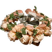 Beautiful 1930's floral headdress, vintage bridal headpiece, art deco wedding