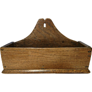Amazing antique early Georgian 1700's, solid oak wood letter rack, wooden letter holder, 18th century shabby chic