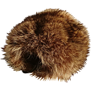 Vintage 60's red fox fur muff, fur hand warmer, luxurious winter fur