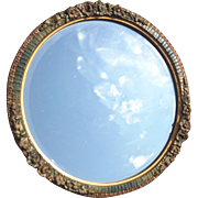 Wonderful French antique Art Nouveau mirror, carved wood, gilt and gesso hand painted mirror, shabby chic