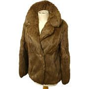 Vintage super soft rabbit fur jacket, oversized collar, as new vintage, coney fur, Hollywood glam