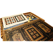 Amazing antique board game, Richter and Co, Mosaik No. 2, puzzle game, boxed antique game