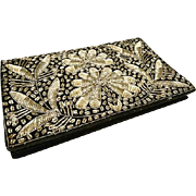 Gorgeous 20's Indian metal thread evening bag, vintage art deco evening bag