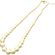 Vintage 1920's Ciro cultured pearl necklace, Art Deco, 9ct gold clasp, single strand