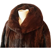 Vintage mink fur coat, beautiful and incredibly soft genuine mink coat, 1950's Griffin and Spalding fur coat