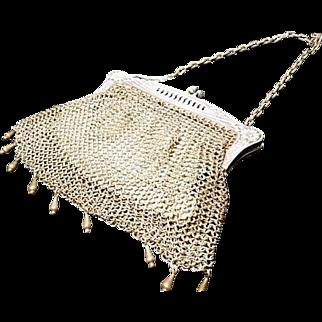 Art nouveau mesh evening bag, chain mail purse