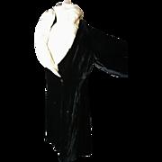 RESERVED: 1920's opera coat, silk velvet and mink opera robe, Slattery and Co