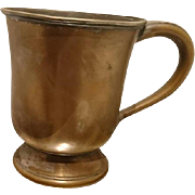 Antique edwardian 1909 copper mug