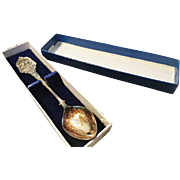 Silver plated Queens jubilee commerative spoon, boxed, vintage EPNS royal memorabilia spoon