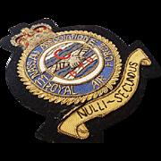 Vintage WW2 RAF training corps patch, no. 111 Nassau Bahamas, RAF badge, WW2 memorabilia