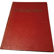 1965 Purnell books, Churchill the man of the century, a pictorial biography, vintage book, 60's Churchill biography