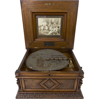 Rare Polyphon 15 inch disk operated music box