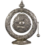 A lovely and very ornate Yogya Silver table gong, 1930s