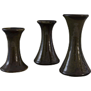 Three lovely small vintage vases made by Bürgel Ceramics
