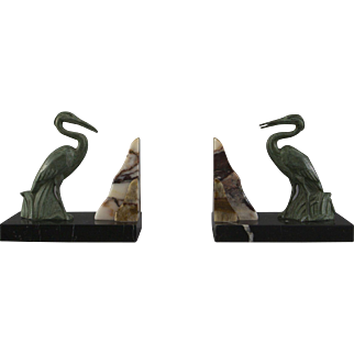 A pair of charming Art Deco bookends.