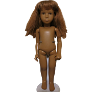 "1969 Trenton Sasha Doll 16"" Red Hair & Dark Skin"