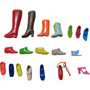 Vintage Barbie Group of 19 Single Boots, Shoes & Heels Japan