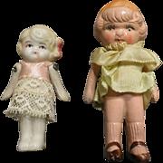 2 Vintage Frozen Charlotte Dolls Japan