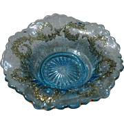 EAPG Jefferson Glass Co. Blue Ivy Scroll Berry Bowl