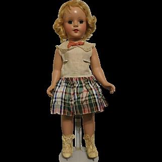 "Vintage 18"" Arranbee Nancy Lee Ice Skater Doll Hard Plastic"