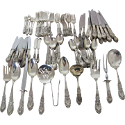 "Magnificent International Sterling ""Richelieu"" Flatware Set 124 Pieces"