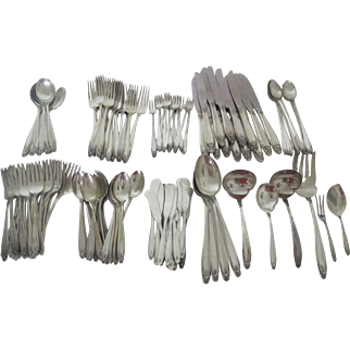 International Prelude Sterling Silver Flatware Set with 135 pieces