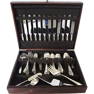 """Spectacular C. 1934 International """"Trousseau"""" Sterling Silver Flatware Set with 97 pieces"""