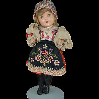 """16"""" Composition doll circa 1930's"""