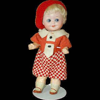 """8"""" German googly eyed doll by Herm Steiner"""