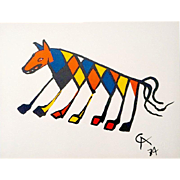Alexander Calder Beastie  (Flying Colors) Lithograph