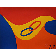 Alexander Calder Friendship Rings (Flying Colors) Lithograph