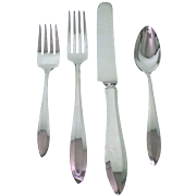 63 pc Patrician Pattern Silverplate Flatware Set by Community Plate