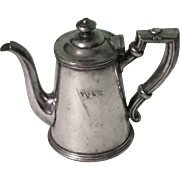 Vintage R. Wallace Silverplate Teapot with PFC Monogram
