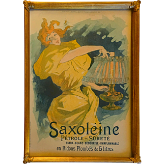 Original Vintage Lithographic Poster Saxoleine by Jules Cheret