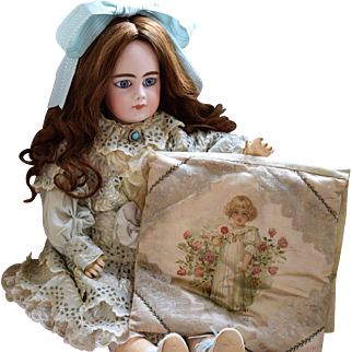 Shabby Chic-Frances Brundage Illustrated Pajama Bag/Pillow from the late 1800's