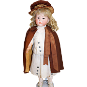 """Early Brown Antique Wool Cape & Hat for a 17-19"""" Doll"""