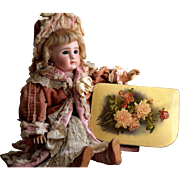 Shabby Chic Roses Antique Celluloid Box with Calling Card
