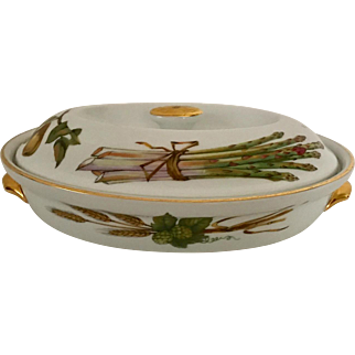 1961 Royal Worcester Asparagus Dish with Lid, England
