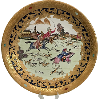Large Chinese Platter with Hunting Scene