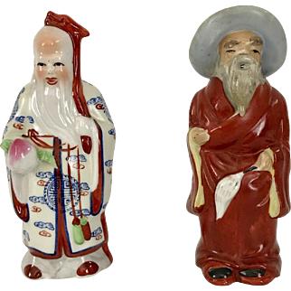 Pair of Chinese Longevity Figures