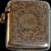 A late victorian silver vesta case