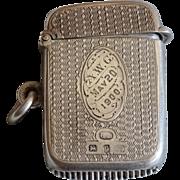 Victorian solid silver vesta case