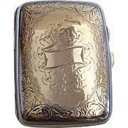 A silver antique cigarette case by Joseph Gloster