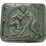 A large French snuff box with mythological scene