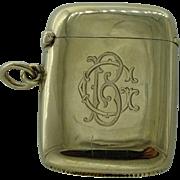 Victorian gold vesta case