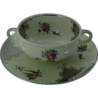 Two-Handled Soup or Bouillion Cup/Bowl
