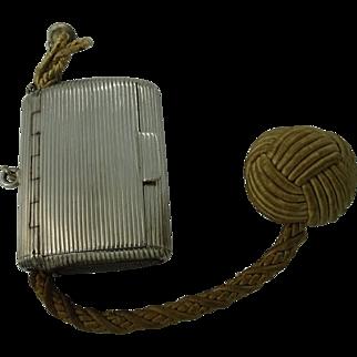 Silver vesta case with wick