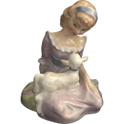 Mid 20th Century Royal Doulton  Mary had a little Lamb Figurine